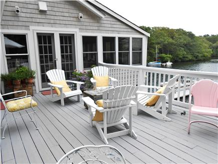 Centerville Centerville vacation rental - Deck area off kitchen & dining room