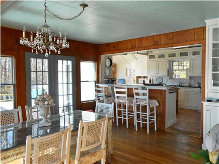 Centerville Centerville vacation rental - Dining room open to kitchen, french doors to deck