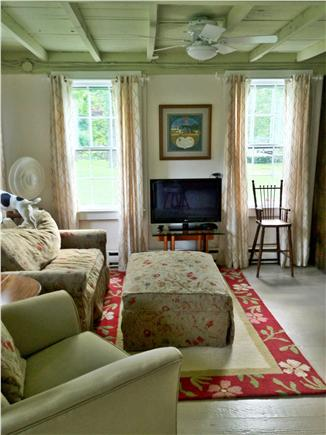 West Barnstable Cape Cod vacation rental - Living area with twin sofa bed