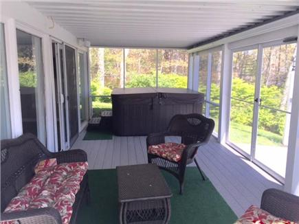 Chatham Cape Cod vacation rental - Jacuzzi, music and firepit inside screened-in porch