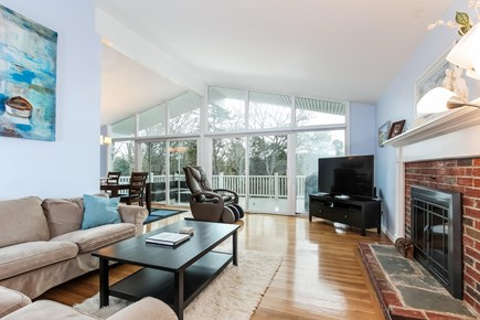 Chatham Cape Cod vacation rental - Beautiful living area with fireplace and floor to ceiling windows