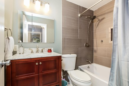 Chatham Cape Cod vacation rental - Beautiful new common bathroom upstairs w/BlueTooth speaker