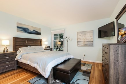Chatham Cape Cod vacation rental - Master bedroom suite with Tempurpedic King and Amazon Fire TV