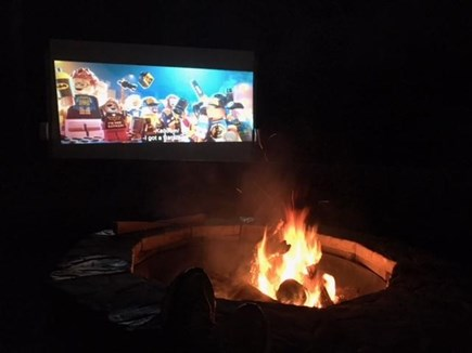 Chatham Cape Cod vacation rental - Drive-in movies by the fire in your own backyard