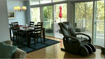 Chatham Cape Cod vacation rental - Dining by the trees followed by a relaxing chair massage