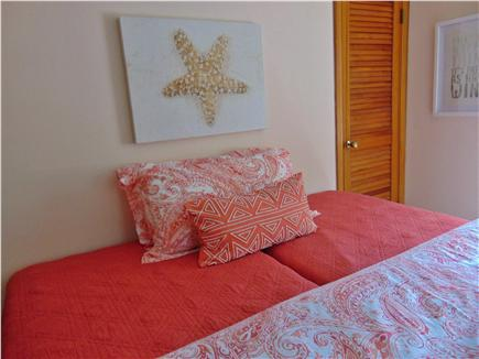 Dennis  Cape Cod vacation rental - Coral Bedroom with twin beds