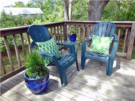 Dennis  Cape Cod vacation rental - Private wooded deck area
