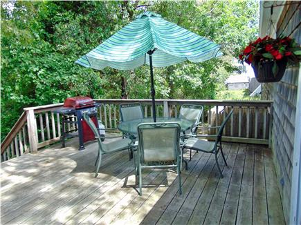 Dennis  Cape Cod vacation rental - Deck area with gas grill - very relaxing!