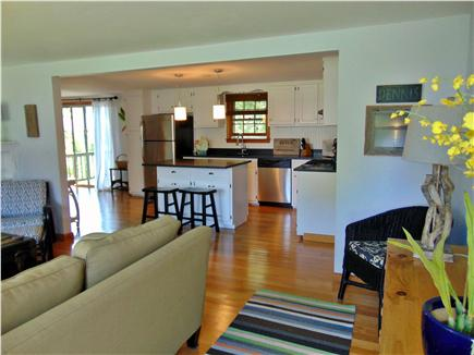 Dennis  Cape Cod vacation rental - Open floor plan with flat screen TV in living room