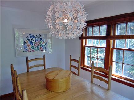 Dennis  Cape Cod vacation rental - Dining area with sliding glass doors to private deck