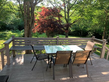 Falmouth - Seacoast Shores Cape Cod vacation rental - Grill & dine on the deck in a beautiful private back yard