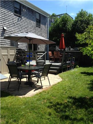 West Yarmouth Cape Cod vacation rental - Deck just off the kitchen has lots of seating and a grill.