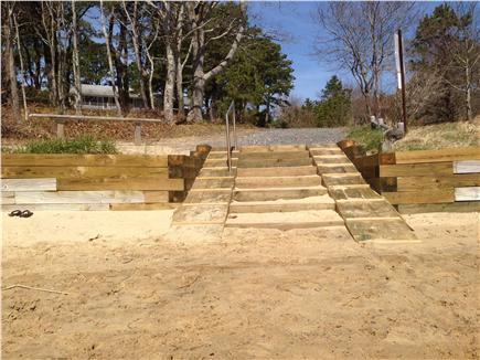 Yarmouth Cape Cod vacation rental - Private beach entrance with new stairs and railing