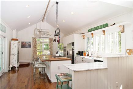 Yarmouth Cape Cod vacation rental - Cathedral ceiling kitchen, marble countertops