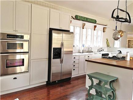 Yarmouth Cape Cod vacation rental - Stainless steel fridge, microwave and stove, outdoor Weber grill