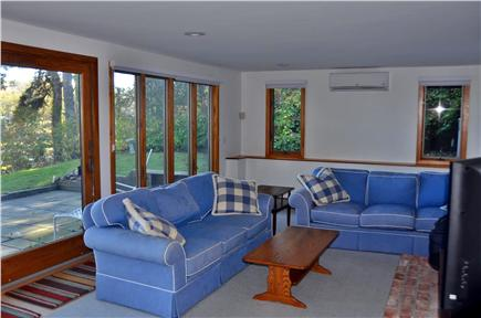 Orleans Cape Cod vacation rental - Family Room with TV and views of the water.
