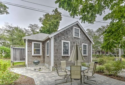 Eastham Cape Cod vacation rental - Patio area with outside hot and cold shower.
