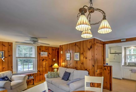 Eastham Cape Cod vacation rental - Classic knotty pine paneling.  Comfortable living area