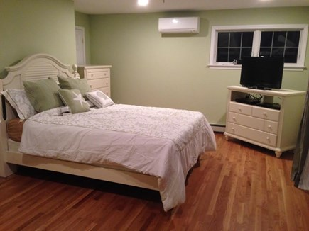 Sandwich, Scorton Shores Cape Cod vacation rental - Master Bedroom on Second Floor with Deck Overlooking Cape Cod Bay