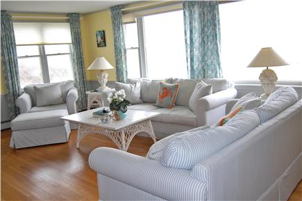 Sandwich, Scorton Shores Cape Cod vacation rental - Living Room with Views of the Dunes
