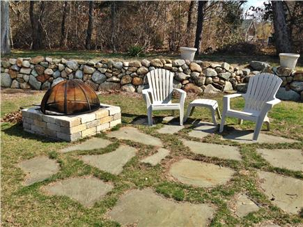 Dennisport Cape Cod vacation rental - Back Yard Firepit/Patio Area