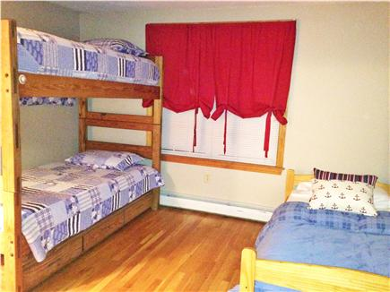 Dennisport Cape Cod vacation rental - Bedroom with Twin bunk beds and trundle - 4 total Twin Beds