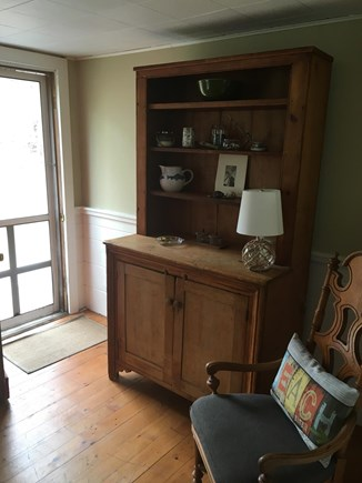 North Eastham Cape Cod vacation rental - Dining area hutch with Lobster cooking pot!