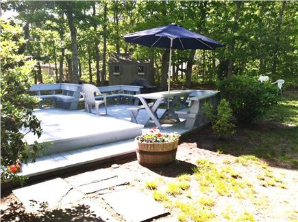 North Eastham Cape Cod vacation rental - 2 adult & 2 teen bikes in the shed with wood for the firepit