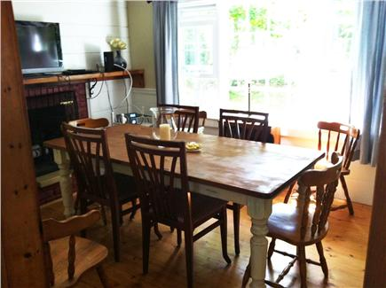 North Eastham Cape Cod vacation rental - Fireplace dining room with 2nd flat screen+DVR. Rainy day games!