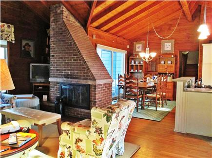 Harwich Port Cape Cod vacation rental - Living room and dining table