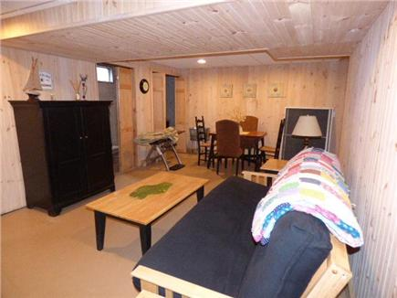 East Dennis Cape Cod vacation rental - Basement family room with TV
