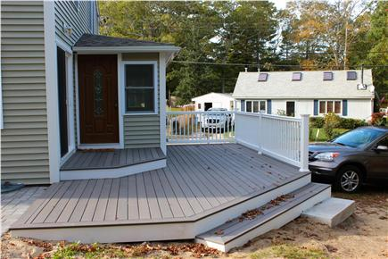 Wareham, Swifts Beach/Broadmarsh Cove MA vacation rental - This deck has water views and is great for entertaining
