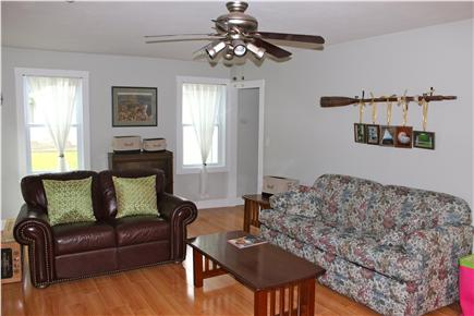 Wareham, Swifts Beach/Broadmarsh Cove MA vacation rental - The large living room has a full size sofa bed