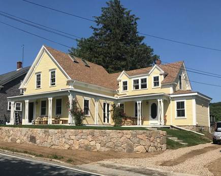 Woods Hole, Close to town and beach Cape Cod vacation rental - 1887 Victorian. Relax on the porch for sunsets over Eel Pond.