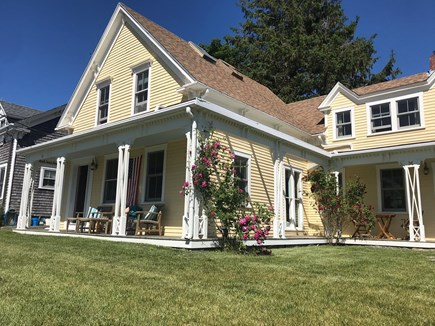 Woods Hole, Close to town and beach Woods Hole vacation rental - 1887 Victorian. Relax on the porch for sunsets over Eel Pond.