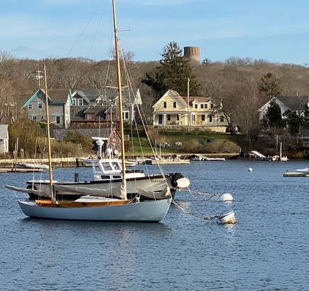 Woods Hole, Close to town and beach Cape Cod vacation rental - View of the house from Eel Pond.