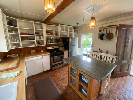 Woods Hole, Close to town and beach Cape Cod vacation rental - Stainless steel appliances in the rustic, well appointed kitchen
