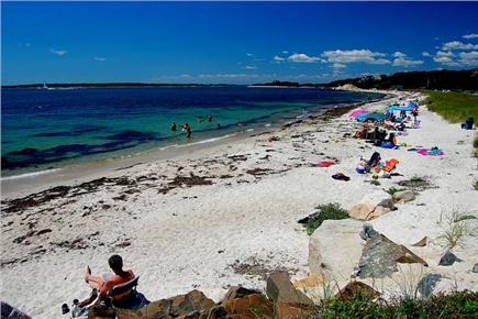 Woods Hole, Falmouth Woods Hole vacation rental - Stoney Beach ain't stony! Lovely, sandy, calm water .4mi walk