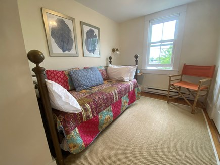 Woods Hole, Close to town and beach Cape Cod vacation rental - Bedroom overlooks water and trundle bed can expand to a queen bed