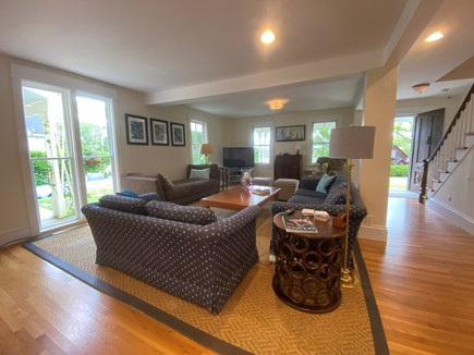Woods Hole, Close to town and beach Cape Cod vacation rental - Large Living Room with plenty windows.