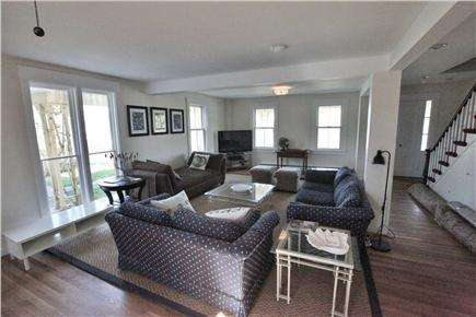 Woods Hole, Close to town and beach Woods Hole vacation rental - This angle shows the large windows- two are floor to ceiling!