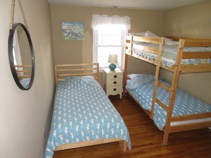 Hyannis, Craigville Cape Cod vacation rental - Bedroom # 3 - Bunk beds, a twin bed, large closet