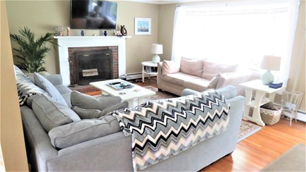 Hyannis, Craigville Cape Cod vacation rental - Large Living Rm #1 with plenty of seating, cable/wifi, DVD