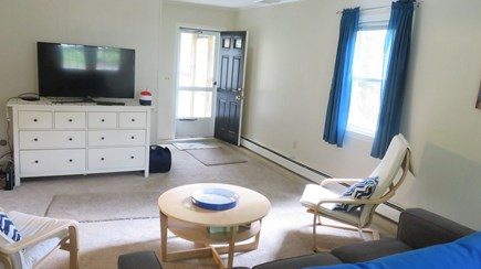 Hyannis, Craigville Cape Cod vacation rental - Spacious Family Rm #2, Smart TV, sofa & exit to patio/yard/shower