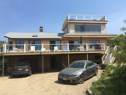 Eastham Cape Cod vacation rental - Looking at the spacious house and deck from the driveway