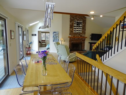 Eastham Cape Cod vacation rental - Bright dining area facing from kitchen to living room