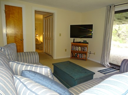 Eastham Cape Cod vacation rental - Lower level family room, showing entrance to bedroom