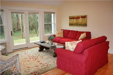 Orleans Cape Cod vacation rental - Living room with view of conservation land