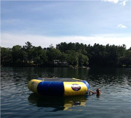 Falmouth Cape Cod vacation rental - Swim to the trampoline and try a flip into the water!