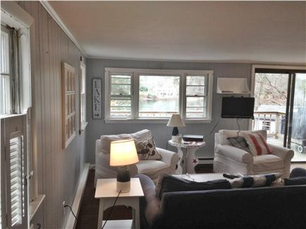 Falmouth Cape Cod vacation rental - Open siitting area with lake views and summer breezes.